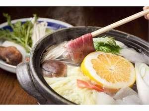 和風ペンション朱紅蘭(しゅっくらん):【牛肉しゃぶしゃぶ】例