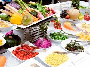 新鮮な野菜や果物が勢ぞろい「ブレックファストマルシェ」(ダイニング・カフェ「ベルテンポ」)
