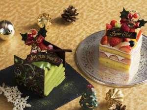 クリスマスケーキ2017 「いちごのショート」「抹茶ノエル」の2種類よりお好みでお選びいただけます。