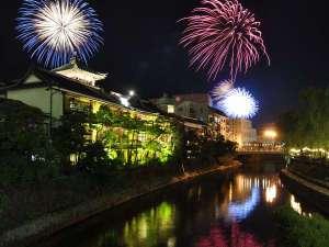 【夏】東海館と花火