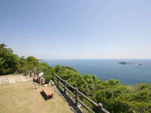 山上館 狼煙山遊園、太平洋側からの眺望