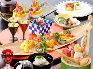 上諏訪温泉 浜の湯:【葵会席イメージ】極上の食材を匠の技で調理したお勧めの自信作