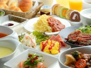 モンテインホテル:(洋食)週末限定という事でチョット豪華な朝食が登場します。