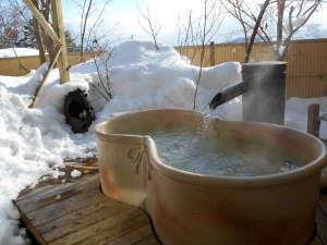 ヒーリングイン ホワイトペンション:雪見のガーデン露天風呂【貸切】