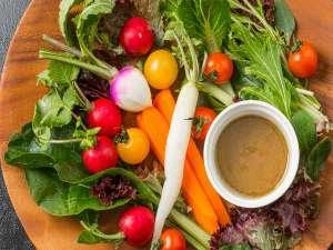ヒーリングイン ホワイトペンション:地元の新鮮野菜を使用したバーニャカウダ♪