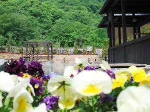 定山渓グランドホテル瑞苑:【希みの湯】花の露天風呂♪