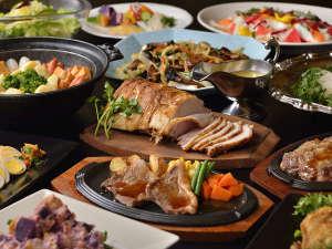 定山渓グランドホテル瑞苑:60周年を記念した、肉に野菜に盛りだくさんのバイキング!!
