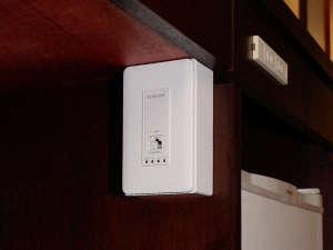 大分センチュリーホテル:客室毎に情報コンセント型無線アクセスポイント設置しています。