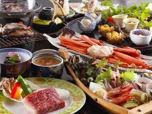城崎温泉 お宿 白山(はくさん):但馬牛ステーキ&活あわび、カニ、鮮魚盛り合わせなど但馬のグルメ三昧例: