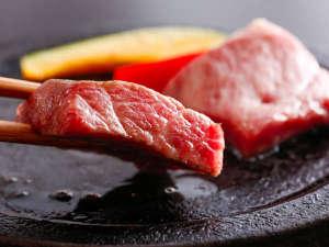 極上・但馬牛のロースステーキの一例