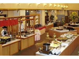 湯の川観光ホテル祥苑:ご夕食バイキング会場です。