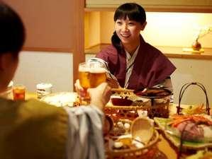 湯の川観光ホテル祥苑:個室食事処で、カップルで気兼ねなくお食事を堪能!