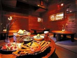 全4室の小さな温泉宿 ゆ・食・遊 えちぜん丸太屋 :ログハウス風の施設は雰囲気たっぷり