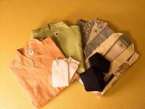 和モダンフロア「粋」では浴衣の他に作務衣もご用意