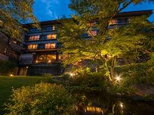 宮島グランドホテル有もと:プライベート庭園から