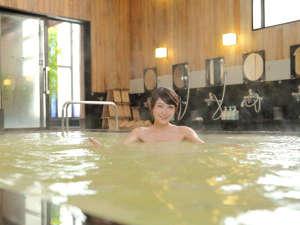 『にごり湯』の天然温泉♪【時間】15:00~翌朝10:00(深夜30分間は清掃の為利用不可