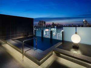 三井ガーデンホテル五反田(2018年6月29日オープン):最上階16F大浴場【SPA】男性外湯