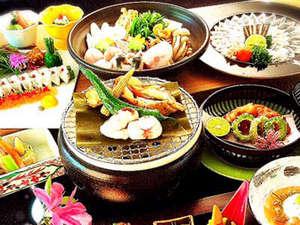信夫温泉のんびり館:料理一例フグフルコース
