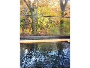 信夫温泉のんびり館:紅葉露天