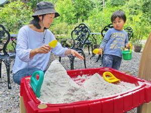 北軽井沢ブルーベリーYGH:砂遊び