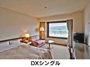 ホテルシティプラザ北上:160cmの大きなベット1台を設置した、北上川に面した見晴らしの良いお部屋です。