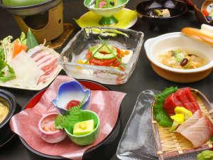 フォレストリゾート コニファーいわびつ:7月~8月夕食一例:遇数日のお料理です