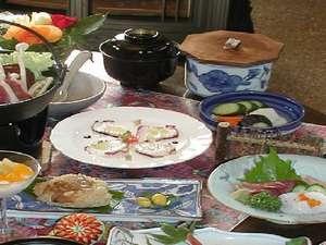 クオリティイン スイング:お肉と魚の標準プランの夕食。季節で変わります。