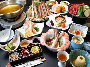 旅館 山林閣:カニ鍋と肥後牛陶板焼きの饗宴♪ボリューム満点コース