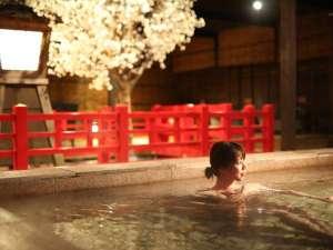幻想的な雰囲気で露天風呂を♪
