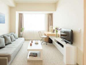 フレイザーレジデンス南海大阪:リビングとベッドルームに分かれた1ベッドルームタイプ。