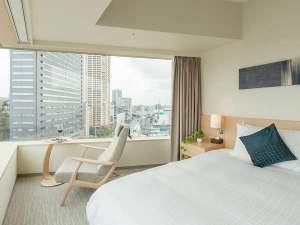 フレイザーレジデンス南海大阪:2ベッドルームのマスターベッドルーム。