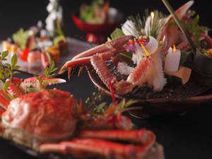 有形文化財の湯宿 旅館大橋:◆「松葉蟹」を含んだ創作会席。