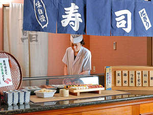 日本人ならやっぱり寿司!もちろん食べ放題☆