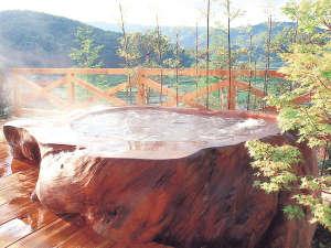 女鹿平温泉クヴェーレ吉和:*【モンスターバス】45000年前の巨木でつくった浴槽です!