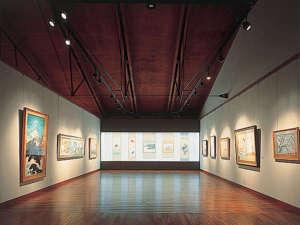 女鹿平温泉クヴェーレ吉和:*【ウッドワン美術館】絵画展示室の一例です。