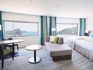 下田東急ホテル:オーシャンビューデラックスツイン42㎡ の客室例