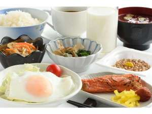 パシフィックホテル盛岡:ご朝食は内容、ボリューム共にご満足いただけるものをご用意しております。