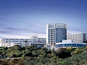 ハトヤホテル:海を見下ろす高台に位置