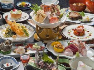 ハトヤホテル:和食料理一例です。料理内容は季節や日にち等で異なります。