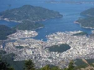 宇和島国際ホテル:鬼ケ城山より望む市街地