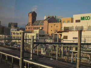 松本駅から一番近い大浴場のある ホテルニューステーション:【ホテル外観】松本駅から徒歩1~2分圏内♪