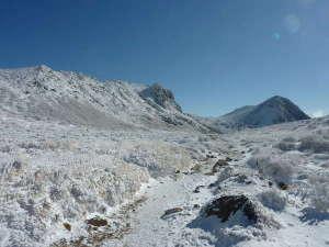 ペンション 草原の風:雪の久住山