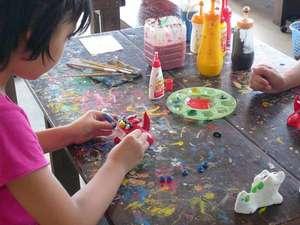 【シーサーの絵付け体験教室】お子様と思い出づくりにシーサーの絵付け体験はいかがですか?※有料