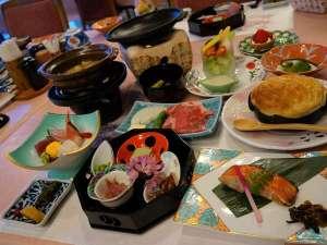 大平台温泉 箱根嶺南荘:*【夕食一例(Aコース)】グレードアップしたお料理です!季節や仕入れによってお料理内容が変わります。