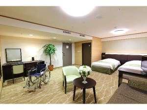 ホテルアウィーナ大阪:【ユニバーサルルーム】2015年ニューオープン!車イスの方も安心なバリアフリーのお部屋タイプです。