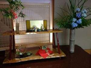 月岡温泉広瀬館 ひてんの音:季節のしつらい