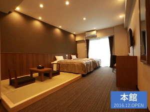 ザ・ベース・堺東・アパートメントホテル:【全室35㎡の和洋室】カップル、友人同士、家族同室で宿泊可能♪(最大5名まで)