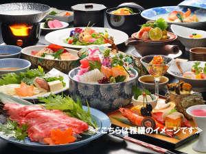 泉ヶ岳温泉やまぼうし:【雅膳】お料理一例/目でも楽しめる華やかなお食事をご用意致します。