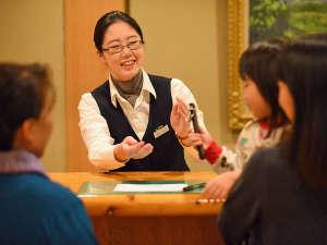 泉ヶ岳温泉やまぼうし:*【フロント】お客様を笑顔でお出迎え♪