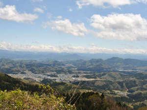 悠久ロマンの杜:【敷地内一例】エボシ山BBQハウスからの景色